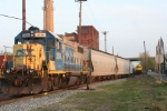 WS-4, using CSX 2558 makes a move at the west end of the MC tracks at Cross St