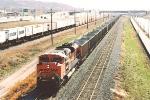 Westbound empty coal train