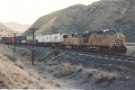 Westbound intermodal runs downgrade