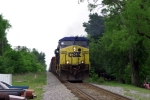 CSX Q574 north crests the hill