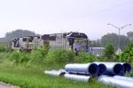 Q573 near MP 111.8 after hitting semi truck