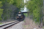 NS 6561 under the Dunham Ave bridge