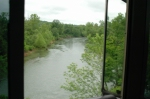 A look out the cab at black river just south of Williamsville Mo
