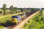 Northbound coal loads