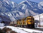 ATSF 5690- Summit, Cajon Pass, CA - 12/30/74
