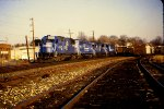 CR 6764 leads westbound coal empties through West Pottstown Yard
