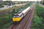Corridor train roars west
