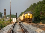 CSX Q471 splits the signals at the North end of Hull Siding