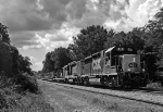 CSX slug set leads a MOW train