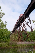 Another dash and we beat the train to the spectacular trestle bridge at Shuffle Creek