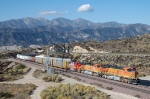 BNSF 7711 - mp 58, Cajon Pass, CA - 11/6/10