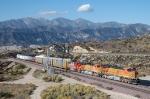 BNSF 7711 - mp 58, Cajon Pass, CA - 11/6/10