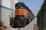 BNSF 8001 at Fontana, CA