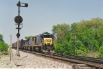 Southbound manifest waits in siding