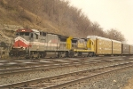 Westbound auto racks roll through Hoffman