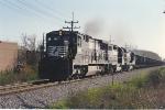Coal train moves east