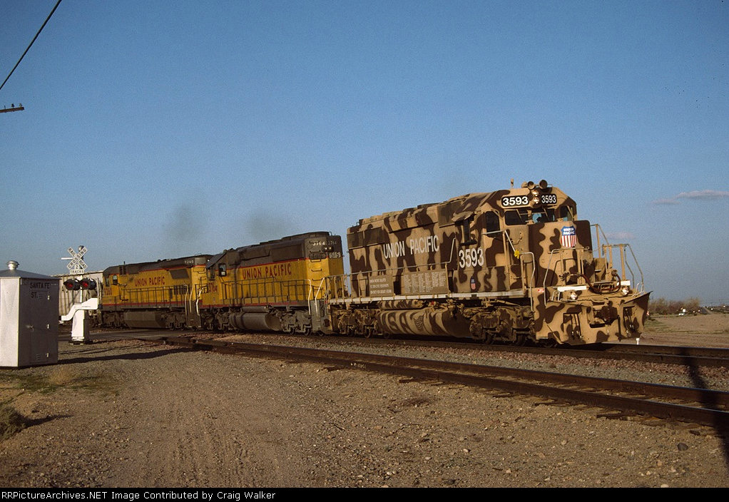 UP 3593 - Daggett, CA - 4/20/91