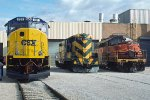 CSXT 701, CNW 1518 and Janesville & Eastern 52