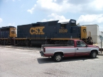 CSX Road Slug on Ribbon Rail Train