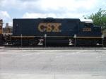 CSX Road Slug on Ribbon Rail Train