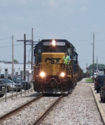 CSX Ribbon Rail Train Sitting On The Track