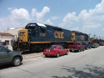 2 CSX Units Lead Ribbon Rail Train