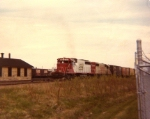 Southbound past old freight station