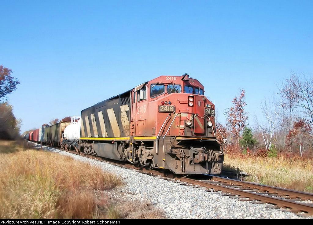 CN 2416 T558  WI Rapids-Necedah Turn