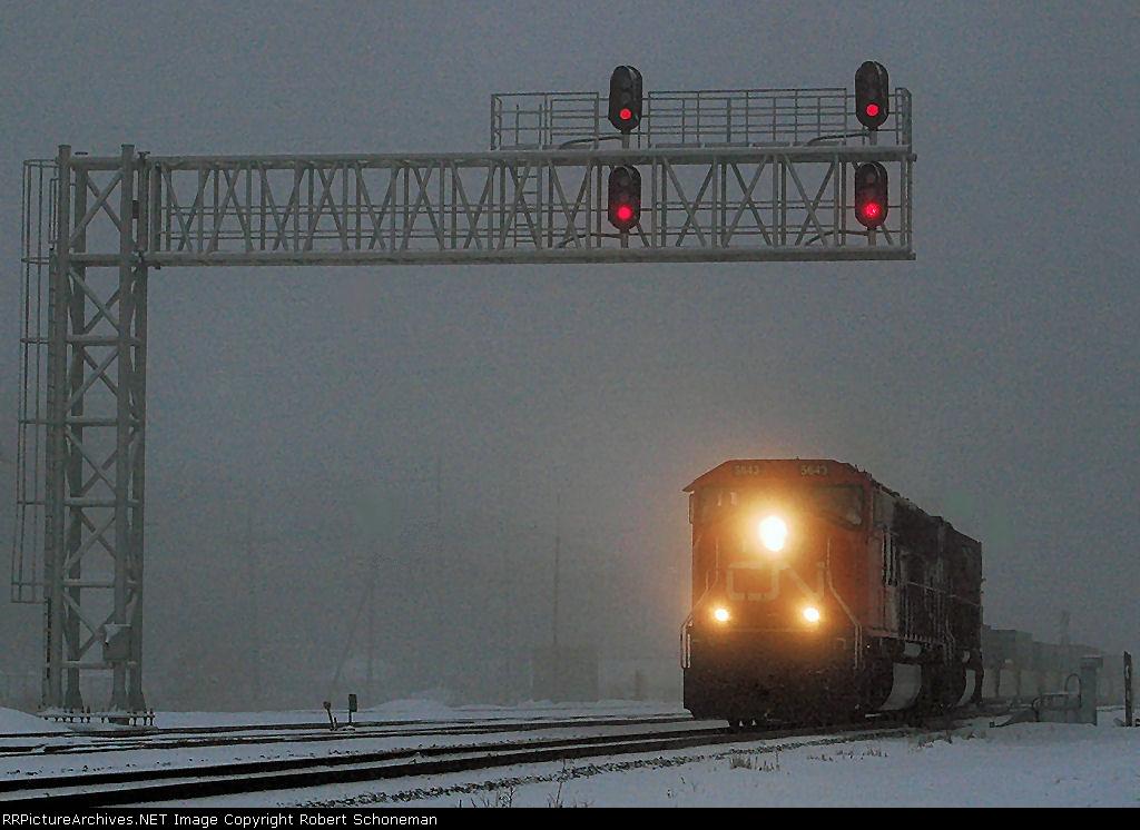CN 199 in Fog