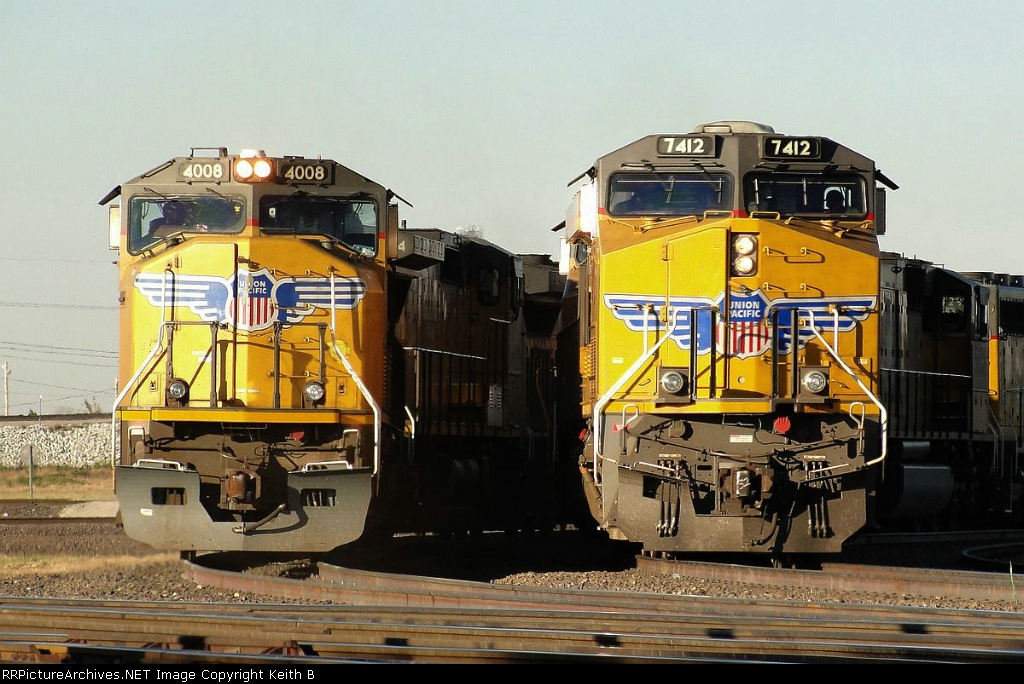 UP 4008 and 7412