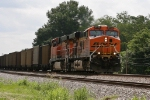 BNSF 5755 & 6166 lead an empty Scherer coal train
