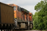 Scherer coal train banks into curve