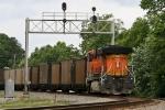 BNSF 6170 (the DPU unit) of the empty Sherer coal train
