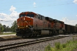 BNSF 6345 leads full Scherer coal train