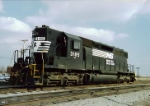 "One of the ""Toledo 5"" Ex SOU Sd40 3185 sits at Homestead Yd in 1994. 3183-87 were assigned to the Toledo terminal."