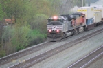 Going thou town of Lilly NS 2683 and BNSF 4372