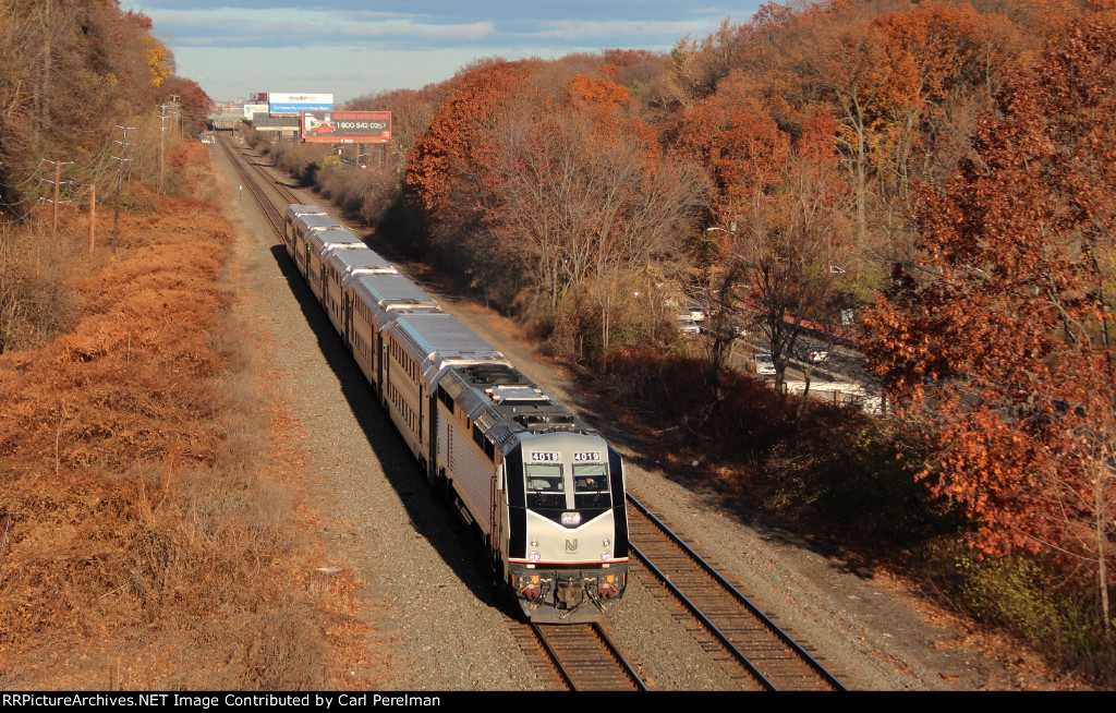 Westbound Raritan Valley Line Train