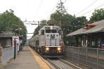 Westbound diesel train