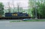 CSX 2507 back up into Cumberland Yard