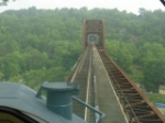 Northbound crossing the Rondout creek