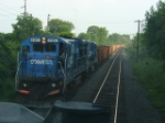 Passing a northbound Ballast train, CP-121 7/19/2005