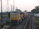 Passing Q112 on CR's Northern Branch, at the break of day