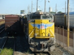 Q110/Q254 combo train with a brand new UP SD70ACe this day