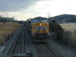 Q271-10 with UP power heads north past Q433-10 at CP-118