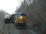 Congestion: Q118 ahead waits with K277 behind for northbound Q410