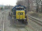 "CSX LOcal C712 waits in the ""coal pocket"" to come out on the main and go to work"