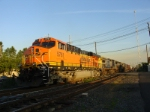 Q273-13,'s lead unit, BNSF ES44AC basks in the last of the afternoon sun at CP-5