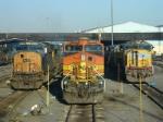 "West meets East, and GE meets EMD. Selkirk ""ready tracks"""