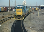 """Typical CSX Power sittin on the """"hill track"""" at the serivice center"""