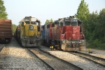 FEC 717 waits the call for the Magnolia turn while the 3858 is off todays Atmore turn
